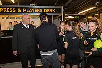 Rotterdam, The Netherlands, 18 Februari, 2018, ABNAMRO World Tennis Tournament, Ahoy, Roger Federer signing autographs<br /> <br /> Photo: www.tennisimages.com