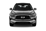 Car photography straight front view of a 2019 Infiniti QX50 LUXE AWD 5 Door SUV