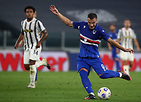 Calcio, Serie A: Juventus - Sampdoria, Turin, Allianz Stadium, September 20, 2020.<br /> Sampdoria's Federico Bonazzoli in action during the Italian Serie A football match between Juventus and Sampdoria at the Allianz stadium in Turin, September 20,, 2020.<br /> UPDATE IMAGES PRESS/Isabella Bonotto
