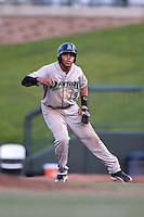 Dayton Dragons outfielder Jon Matthews (29) leads off first during a game against the South Bend Silver Hawks on August 20, 2014 at Four Winds Field in South Bend, Indiana.  Dayton defeated South Bend 5-3.  (Mike Janes/Four Seam Images)