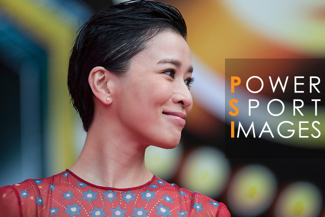 Charmaine Sheh walks the Red Carpet event at the World Celebrity Pro-Am 2016 Mission Hills China Golf Tournament on 20 October 2016, in Haikou, China. Photo by Victor Fraile / Power Sport Images