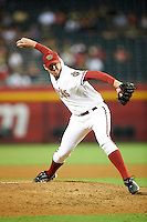 Arizona Diamondbacks relief pitcher Brad Ziegler #29 during a National League regular season game against the Colorado Rockies at Chase Field on October 3, 2012 in Phoenix, Arizona. Arizona defeated Colorado 5-3. (Mike Janes/Four Seam Images)