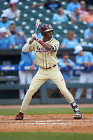 J.C. Flowers (8) of the Florida State Seminoles at bat against the North Carolina Tar Heels in the 2017 ACC Baseball Championship Game at Louisville Slugger Field on May 28, 2017 in Louisville, Kentucky. The Seminoles defeated the Tar Heels 7-3. (Brian Westerholt/Four Seam Images)