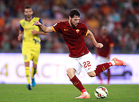 Calcio, Serie A: Roma vs ChievoVerona. Roma, stadio Olimpico, 18 ottobre 2014.<br /> Roma's Mattia Destro in action during the Italian Serie A football match between Roma and ChievoVerona at Rome's Olympic stadium, 18 October 2014. Roma won 3-0.<br /> UPDATE IMAGES PRESS/Isabella Bonotto