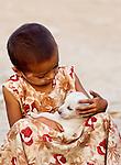 Girl & Puppy, Myanmar