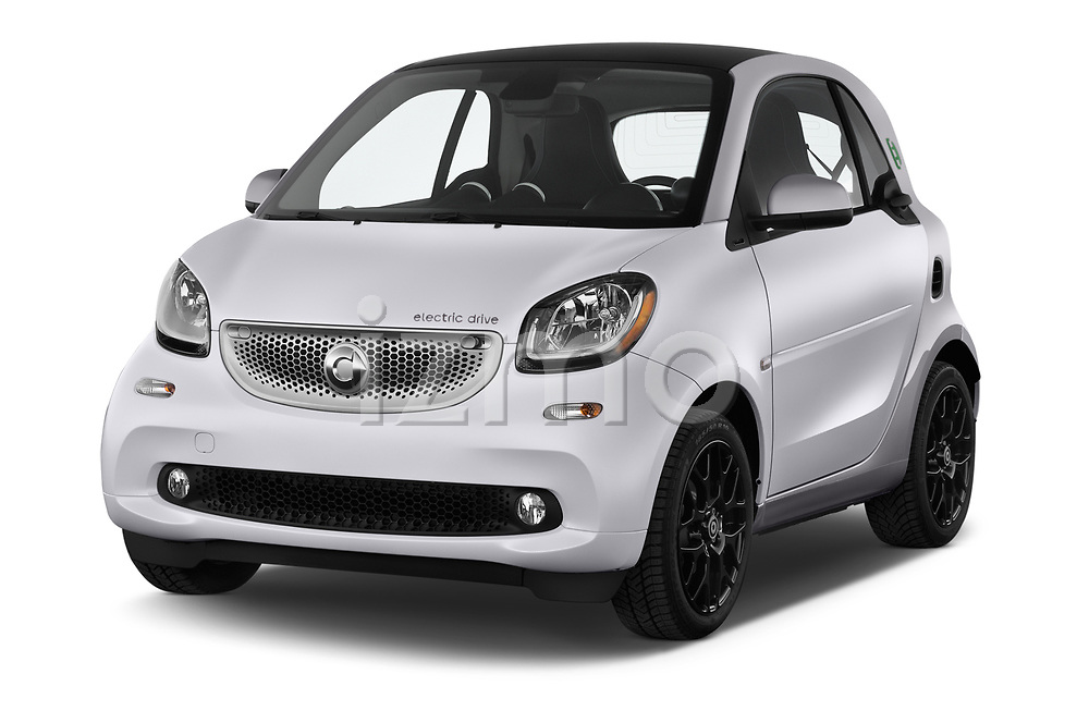 2018 Smart fortwo prime coupe 3 Door micro car angular front stock photos of front three quarter view