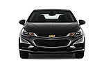 Car photography straight front view of a 2018 Chevrolet Cruze LT-Auto 4 Door Sedan Front View