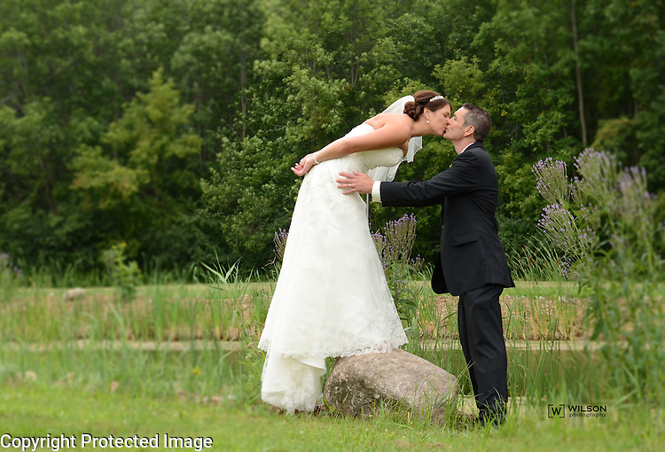 Kristy Schuette and Ted Sutrick wedding in Green Bay, Wis., on August 16, 2014.