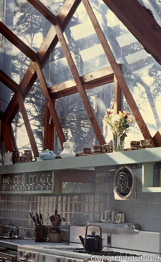 Frank Gehry House, kitchen design. Santa Monica, CA. Post-Modern. Photo, Jan. 1987.