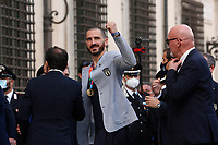 Leonardo Bonucci during the visit of the Italian National team at Palazzo Chigi, where the athletes met the Italian Premier after winning the UEFA Euro 2020 cup.<br /> Rome (Italy), July 12th 2021<br /> Photo Samantha Zucchi Insidefoto
