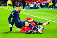 13th April 2021; Parc de Princes, Paris, France; UEFA Champions League football, quarter-final; Paris Saint Germain versus Bayern Munich;  Kylian Mbappe (PSG) is upended by Jerome Boateng (Bayern)