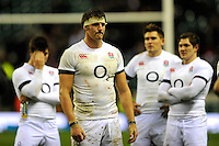 A dejected Tom Wood of England after losing the QBE Autumn International match between England and New Zealand at Twickenham on Saturday 16th November 2013 (Photo by Rob Munro)