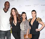 "Lamar Odom,Khloe Kardashian Odom,Kourtney Kardashian and Kim Kardashian at The Fragrance Launch event for ""Unbreakable by Khloe + Lamar"" held at The Redbury Hotel in Hollywood, California on April 04,2011                                                                               © 2010 Hollywood Press Agency"