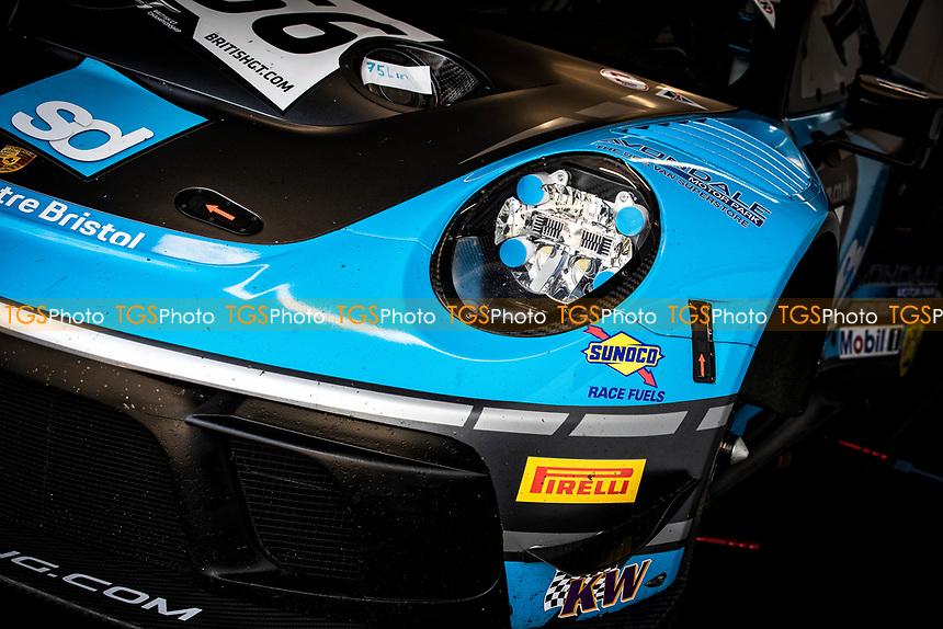 Livery of the Nick Jones & Scott Malvern, Porsche 911 GT3 R, Team Parker Racing during the British GT & F3 Championship on 11th July 2021