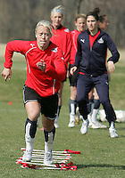 Lori Lindsey during Washington Freedom  practice and media event at the Maryland Soccerplex on March 25 in Boyd's, Maryland.