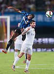 (L) Geoffrey Kondogbia of FC Internazionale Milano competes for the balding (R) Isco of Real Madrid CFduring the FC Internazionale Milano vs Real Madrid  as part of the International Champions Cup 2015 at the Tianhe Sports Centre on 27 July 2015 in Guangzhou, China. Photo by Hendrik Frank / Power Sport Images