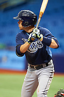 Tampa Bay Rays Brett Sullivan (72) during an instructional league game against the Boston Red Sox on September 24, 2015 at Tropicana Field in St Petersburg, Florida.  (Mike Janes/Four Seam Images)