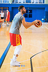 Rudy Fernandez during the training of Spanish National Team of Basketball. August 06, 2019. (ALTERPHOTOS/Francis González)