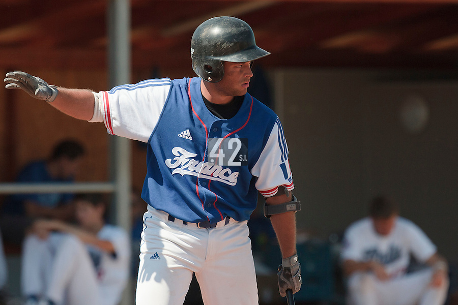 20 August 2010: Brice Lorienne of Team France is seen at bat during France 6-5 win over Italy, at the 2010 European Championship, under 21, in Brno, Czech Republic.