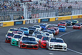 #20: Christopher Bell, Joe Gibbs Racing, Toyota Supra Rheem/Smurfit Kappa and #00: Cole Custer, Stewart-Haas Racing, Ford Mustang Haas Automation restart