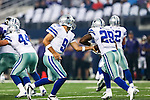 Dallas Cowboys quarterback Tony Romo (9) and Dallas Cowboys running back DeMarco Murray (29) in action during the pre-season game between the Baltimore Ravens and the Dallas Cowboys at the AT & T stadium in Arlington, Texas. The Ravens lead Dallas 24 to 10 at half time.