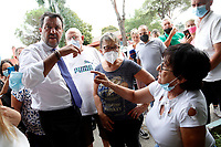 The leader of the right wing party Lega Nord Matteo Salvini visits the social houses of Tor Bella Monaca, one of the most poor and degraded districts in Rome. <br /> Rome (Italy), September 10th 2021<br /> Photo Samantha Zucchi Insidefoto