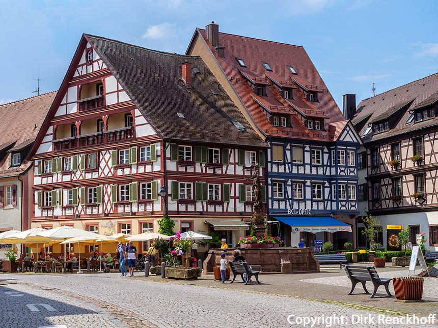 Marktplatz, Gengenbach, Ortenaukreis, Baden-Württemberg, Deutschland, Europa<br /> Market Place, Gengenbach, Ortenaukreis, Baden-Wuerttemberg, Germany, Europe