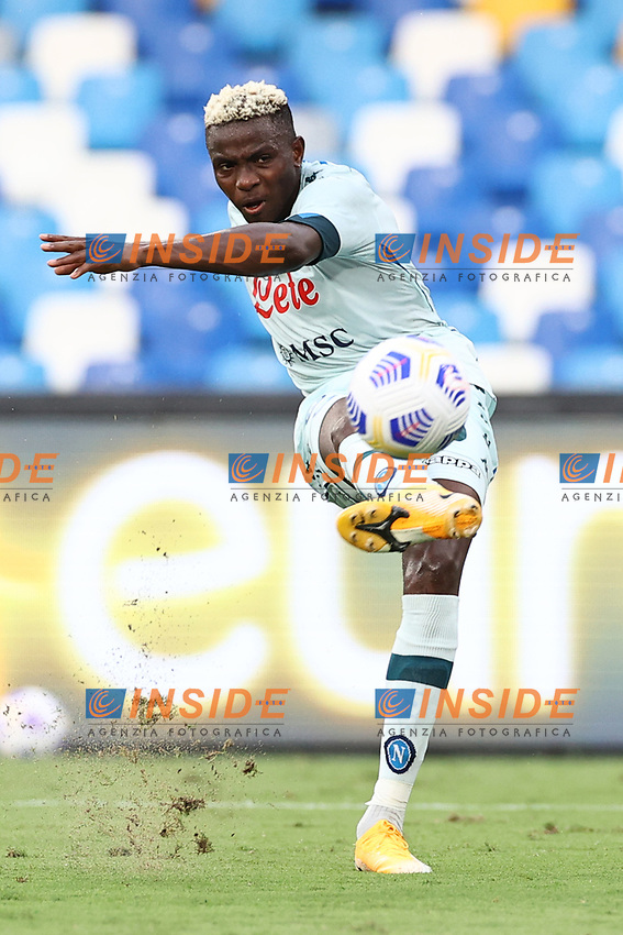 Victor Osimhen of SSC Napoli <br /> during the friendly football match between SSC Napoli and Pescara Calcio 1936 at stadio San Paolo in Napoli, Italy, September 11, 2020. <br /> Photo Cesare Purini / Insidefoto