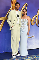 """Jordan Spence and Naomi Scott<br /> arriving for the """"Aladdin"""" premiere at the Odeon Luxe, Leicester Square, London<br /> <br /> ©Ash Knotek  D3500  09/05/2019"""