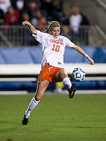 Annie Steinlage (10) of Virginia takes a touch on the ball during the Women's College Cup semifinals at WakeMed Soccer Park in Cary, NC. UCLA advance on penalty kicks after typing Virginia, 1-1 in regulation time.