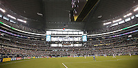 A general view of the field and stadium during the match between USMNT and Honduras on July 24, 2013 at Dallas Cowboys Stadium in Arlington, TX. USMNT won 3-1.