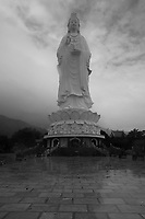 Lady buddha on a  stormy day in Da Nang, Vietnam