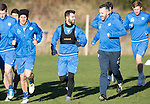 St Johnstone Training…18.11.16<br />Richie Foster pictured during training this morning at McDiarmid Park ahead of tomorrow's game against Ross County running alongside club pastor Dave Barrie<br />Picture by Graeme Hart.<br />Copyright Perthshire Picture Agency<br />Tel: 01738 623350  Mobile: 07990 594431