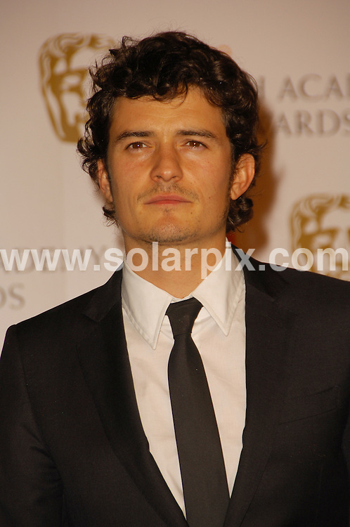 **ALL ROUND PICTURES FROM SOLARPIX.COM**.**WORLDWIDE SYNDICATION RIGHTS**.The Orange British Academy Film Awards.Royal Opera House, London, February 10th 2008   ..This pic: Orlando Bloom..JOB REF: 5750 MSR    DATE: 08_02_2008.**MUST CREDIT SOLARPIX.COM OR DOUBLE FEE WILL BE CHARGED* *UNDER NO CIRCUMSTANCES IS THIS IMAGE TO BE REPRODUCED FOR ANY ONLINE EDITION WITHOUT PRIOR PERMISSION*