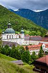 Deutschland, Bayern, Oberbayern, Ettal: Kloster Ettal, 1330 gegruendete barocke Benediktinerabtei | Germany, Upper Bavaria, Ettal: Ettal Abbey, baroque Benedictine Monastery founded 1330