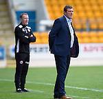 St Johnstone v Stirling Albion…30.07.16  McDiarmid Park. Betfred Cup<br /> Tommy Wright and Stuart McLaren watch the game<br /> Picture by Graeme Hart.<br /> Copyright Perthshire Picture Agency<br /> Tel: 01738 623350  Mobile: 07990 594431