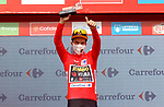 Primoz Roglic (SLO) Jumbo-Visma retains the race leaders Red Jersey at the end of Stage 9 of La Vuelta d'Espana 2021, running 188km from Puerto Lumbreras to Alto de Velefique, Spain. 22nd August 2021.     <br /> Picture: Luis Angel Gomez/Photogomezsport   Cyclefile<br /> <br /> All photos usage must carry mandatory copyright credit (© Cyclefile   Luis Angel Gomez/Photogomezsport)