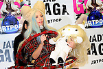 December 1st, 2013 : Tokyo, Japan - Lady Gaga, an American pop music star, talked about Hallo Kitty, a Japanese popular character that was going to be put up for auction to raise money for people who were suffered by the Great East Japan Earthquake, at a press conference about her new album, ARTPOP, at Roppongi Hills, Roppongi, Minato, Tokyo, Japan on December 1, 2013. (Photo by Koichiro Suzuki/AFLO)