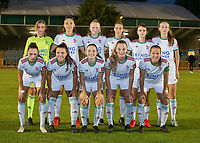 (back row L to R) goalkeeper Mirthe Claes (12) of OHL, Amber Tysiak (3) of OHL, Linde Veefkind (25) of OHL, Charlotte Cranshoff (18) of OHL, Zenia Mertens (6) of OHL, Sari Kees (2) of OHL (front row L to R) Jill Janssens (7) of OHL, Luna Vanzeir (10) of OHL, Estee Cattoor (11) of OHL, Tess Lameir (14) of OHL and Lenie Onzia (8) of OHL pose for a team photo before a female soccer game between FC Femina White Star Woluwe and Oud Heverlee Leuven on the fourth matchday in the 2021 - 2022 season of Belgian Scooore Womens Super League , Friday 10 th of September 2021  in Woluwe , Belgium . PHOTO SPORTPIX | SEVIL OKTEM
