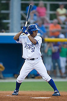 Yeldrys Molina (37) of the Burlington Royals at bat at Burlington Athletic Park in Burlington, NC, Saturday, July 26, 2008. (Photo by Brian Westerholt / Four Seam Images)