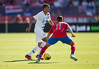 CARSON, CA - FEBRUARY 1: Reggie Cannon #2 of the United States moves with the ball during a game between Costa Rica and USMNT at Dignity Health Sports Park on February 1, 2020 in Carson, California.