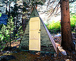 Outhouse at Toiyabe National Forest, California