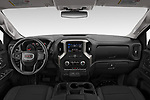 Stock photo of straight dashboard view of 2020 GMC Sierra-3500HD - 4 Door Pick-up Dashboard