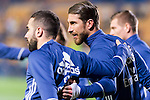 Sergio Ramos (r) and Daniel Carvajal Ramos of Real Madrid in training prior to the La Liga match between Villarreal CF and Real Madrid at the Estadio de la Cerámica on 26 February 2017 in Villarreal, Spain. Photo by Maria Jose Segovia Carmona / Power Sport Images