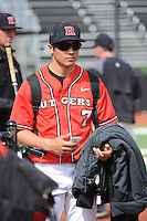 Rutgers University Scarlet Knights DH Joe D'Annunzio (7) after a game against the University of Cincinnati Bearcats at Bainton Field on April 19, 2014 in Piscataway, New Jersey. Rutgers defeated Cincinnati 4-1.  (Tomasso DeRosa/ Four Seam Images)