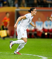 Ali Krieger.  Japan won the FIFA Women's World Cup on penalty kicks after tying the United States, 2-2, in extra time at FIFA Women's World Cup Stadium in Frankfurt Germany.