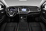 Stock photo of straight dashboard view of 2018 Toyota Highlander SE 5 Door SUV Dashboard