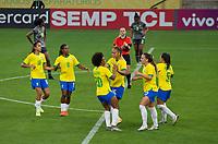 São Paulo (SP), 27/11/2020 - Brasil-Equador - Nycole comemora o gol do Brasil. Brasil e Equador em amistoso internacional, a partida realizada na Neo Química Arena em São Paulo, nesta sexta-feira (27), marca o retorno da Seleção Brasileira Feminina após oito meses sem jogos internacionais.