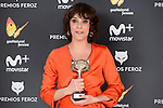 Belen Cuesta win the award at Feroz Awards 2017 in Madrid, Spain. January 23, 2017. (ALTERPHOTOS/BorjaB.Hojas)