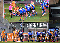 31st August 2020; Recreation Ground, Bath, Somerset, England; English Premiership Rugby, Bath versus Wasps; a series of rucks from Wasps allow them to win the match
